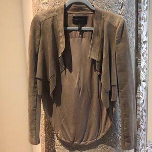 BCBG cropped faux suede jacket - sz S